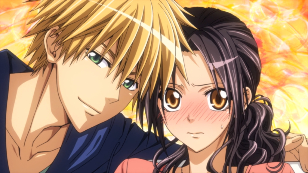 Usui and Misa posing for a picture